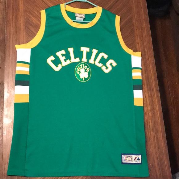 brand new 00894 76cdb boston celtics majestic hardwood classics jersey
